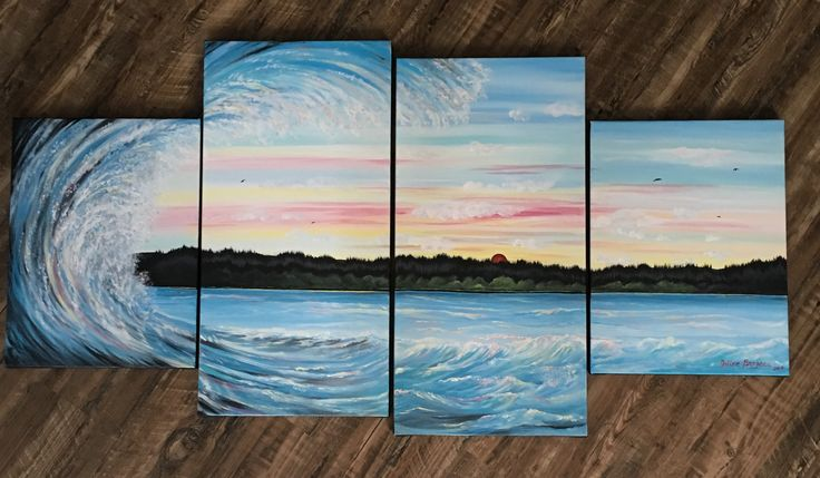 Very proud of this one! 4 canvas acrylic painting!