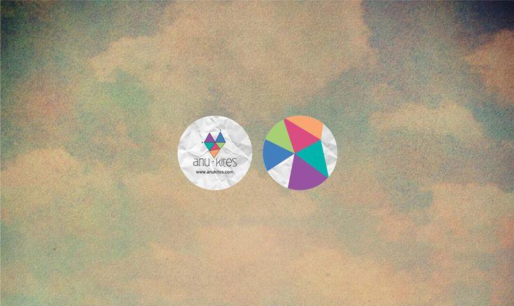Stickers www.elialaourda.com #anu #kites #presskit #clouds #sky #cd #packaging #packagingdesign #stickers #paper