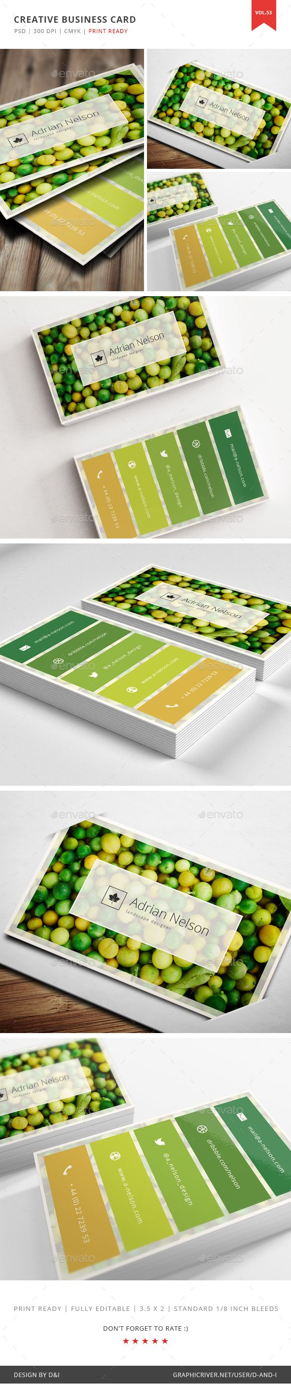 Creative Landscape Designer Business Card Template PSD. Download here: http://graphicriver.net/item/creative-landscape-designer-business-card-vol-53/16288710?ref=ksioks