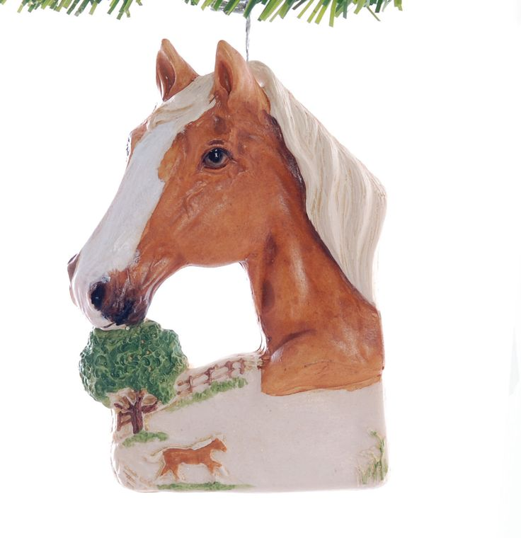 Palomino Horse Resin Christmas Ornament Hand Made in the USA Personalized With Your Choice of Name and or Year Gift Box Included (321) by Christmaskeeper on Etsy