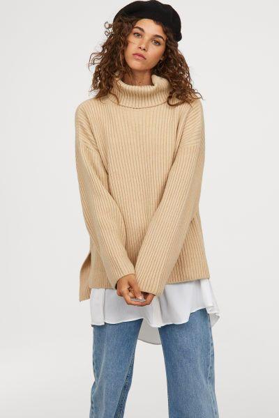 Jersey de cuello alto de punto  a6a350d85c55