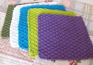 Double Seed Stitch Dishcloth free