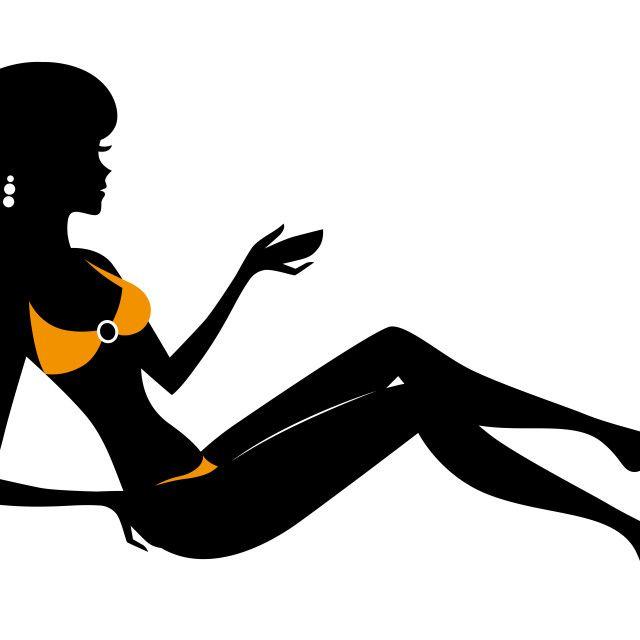 'Woman in bikini silhouette' on Picfair.com