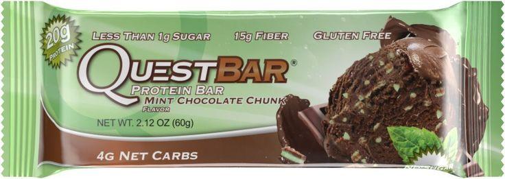 Quest Protein Bar Mint Chocolate Chunk Flavor 2.1 oz