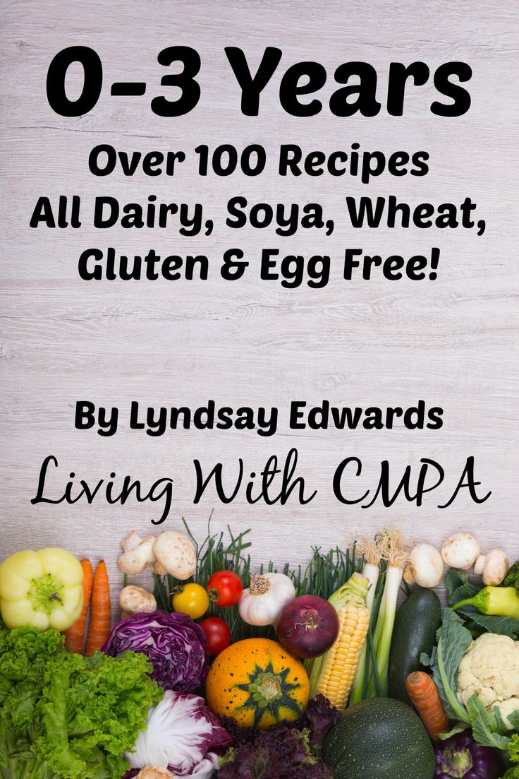 0-3 Years Recipe eBook - Dairy Free - Soya Free - Wheat Free - Gluten Free - Egg Free - Over 100 Recipes
