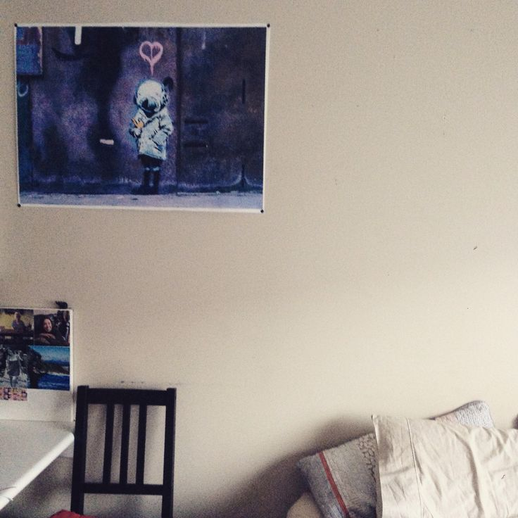The banksy canvas in my room