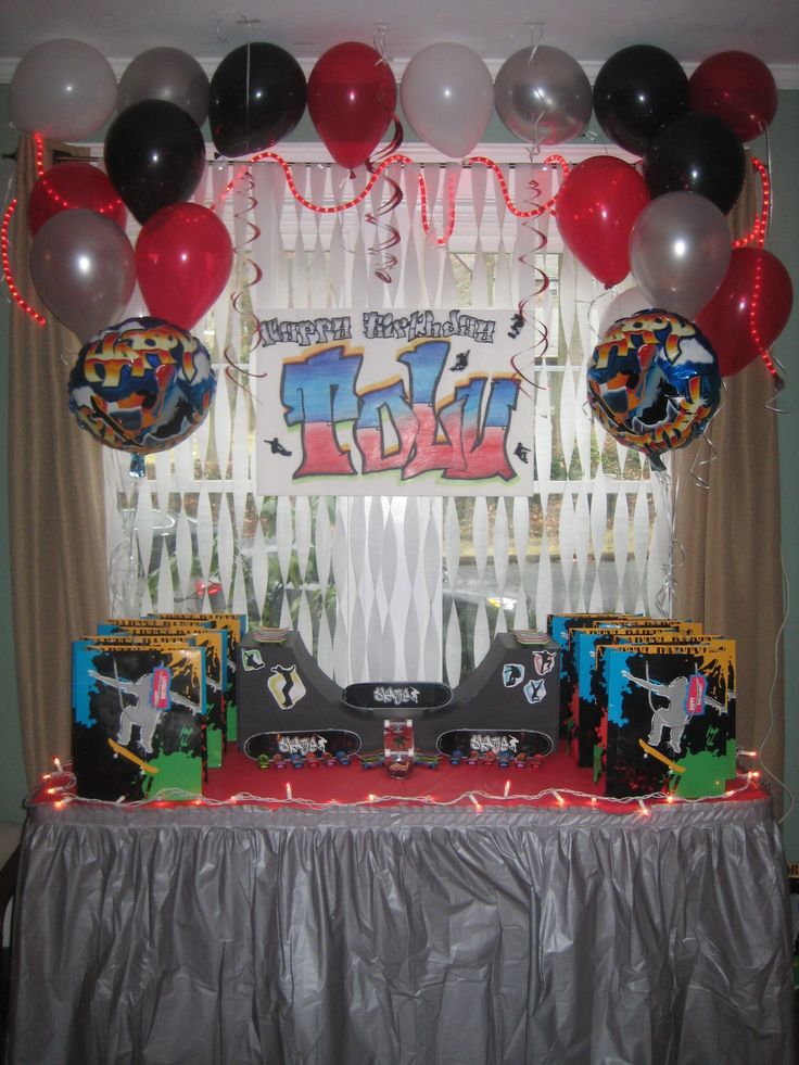 Skateboard Decorations 21 best skateboard party images on pinterest | skateboard party