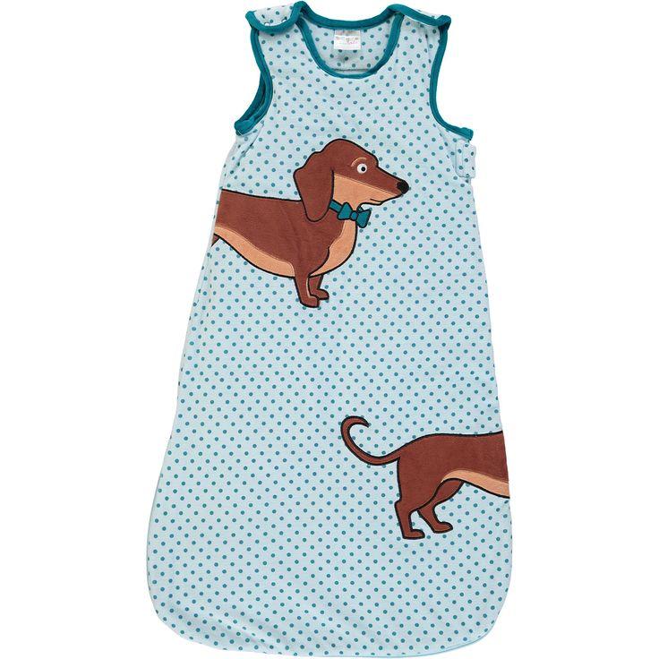 """Snuggle Tots"" Blue Sausage Dog Sleeping Bag 2.5 Tog - TK Maxx"