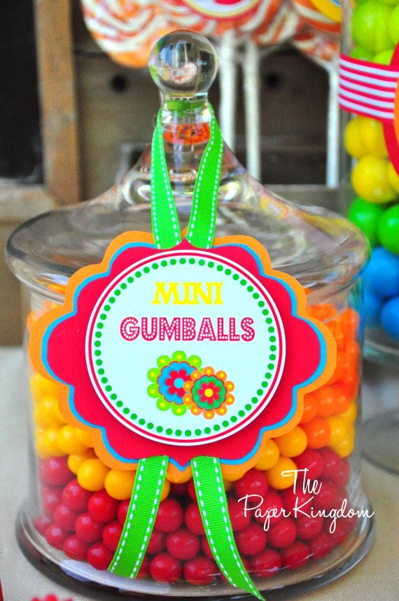 Fiesta Party Candy Jar Labels Fiesta Party by thepaperkingdom, $15.00