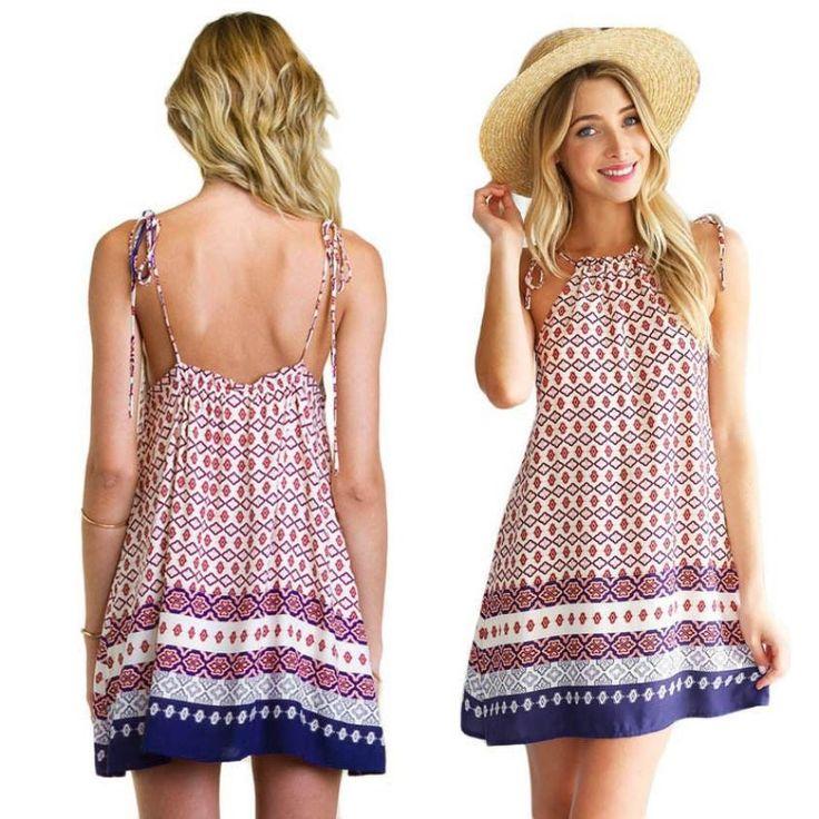 Boho chic summer dress bohemian style hippie fashion