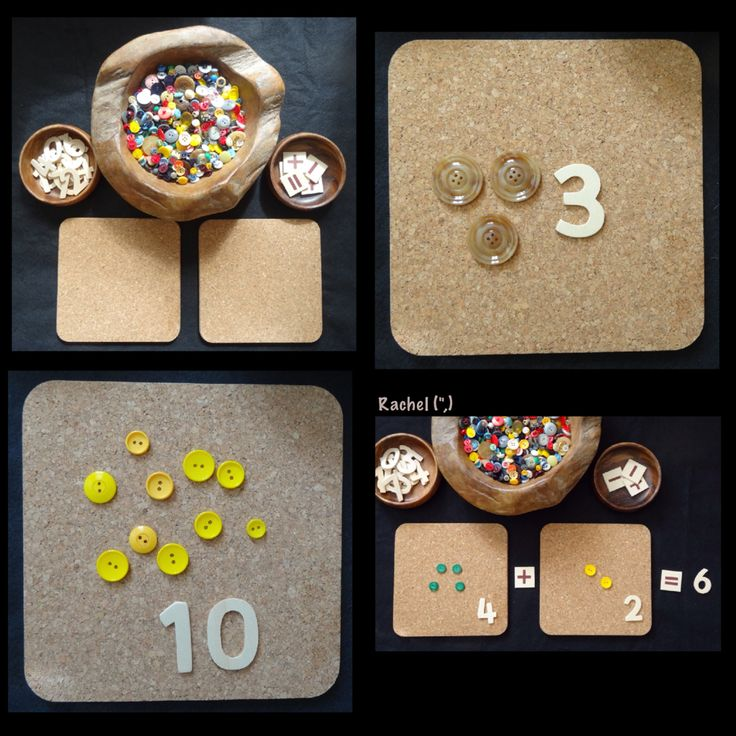 Counting and number recognition with buttons from Rachel