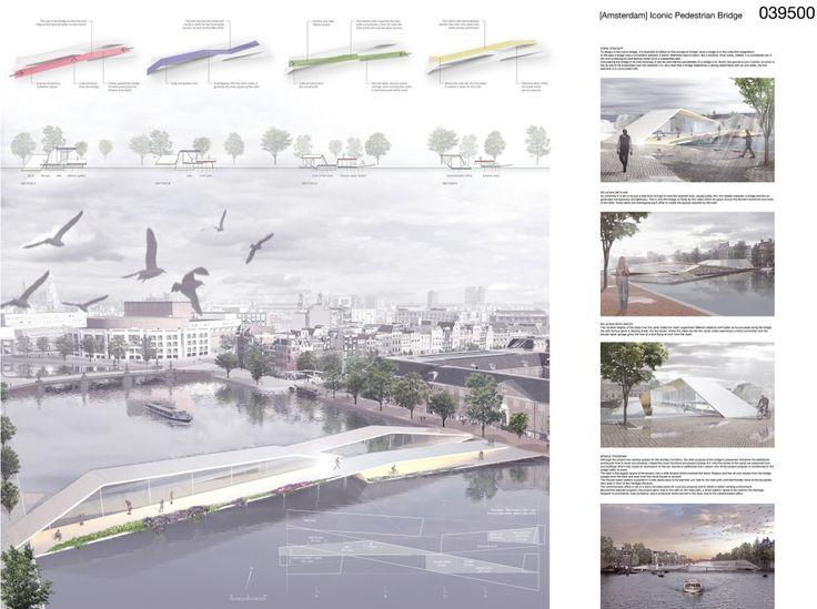 Amsterdam Pedestrian Bridge Proposal / Francesco Piffari