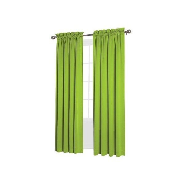 Charming Seymour Room Darkening Pole Top Curtain Panel Lime ($17) ❤ Liked On  Polyvore Featuring Home, Home Decor, Window Treatments, Curtains, Rod  Pocket Curtains, ... Part 27