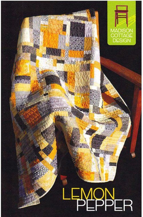 "Lemon Pepper is an easy and fun quilt to make using your favorite fat quarters. It will add just the right amount of spice to your quilting. Finished sizes: Crib - 35"" x 49"" Throw - 56"" x 63"" XL Throw"