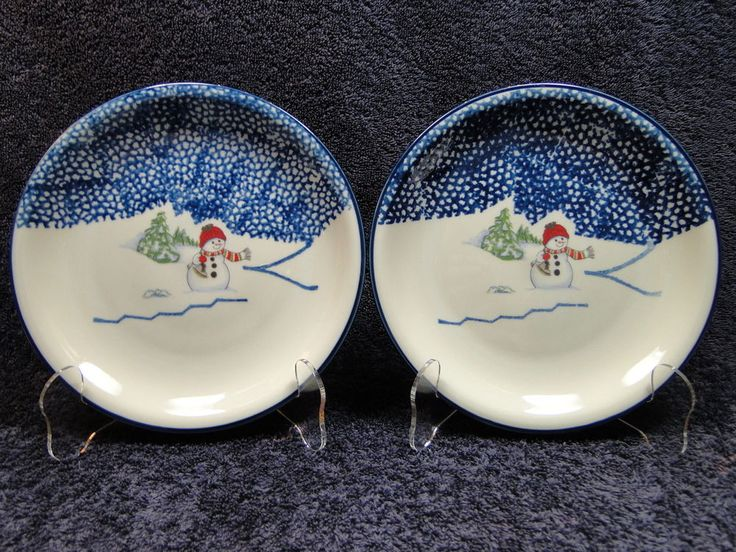 Thomson Pottery Snowman Salad Plate 7 1/2\  TWO 2 - MINT & 23 best Tienshan China images on Pinterest | Ceramica Cutlery and ...