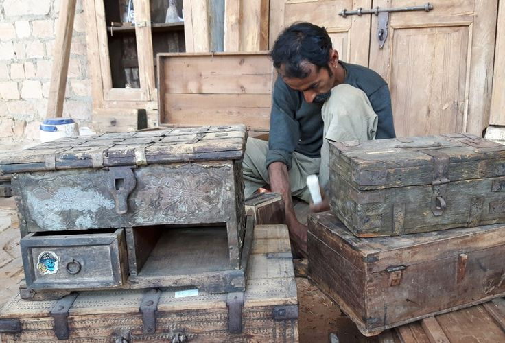 Vintage furniture restoration of chests, boxes and trunks by Scaramanga