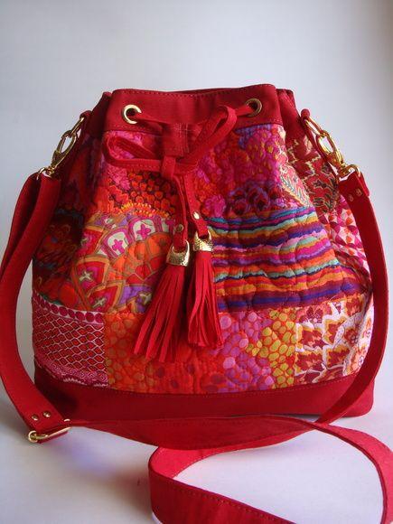 Bolsa Saco - Vermelha - LONA