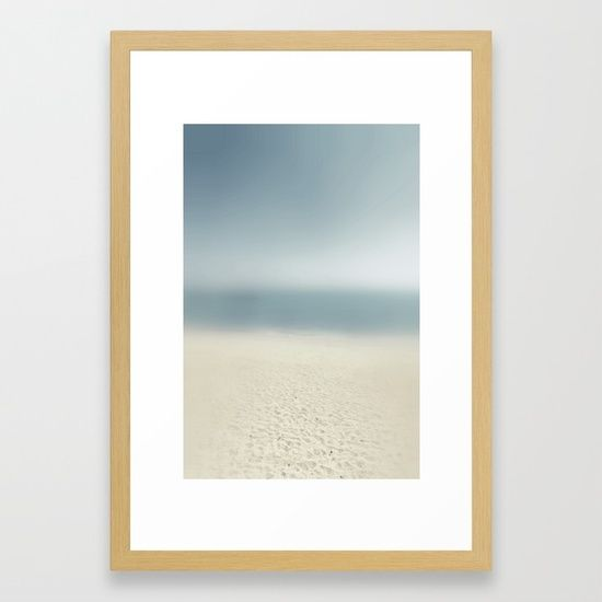 """Prints on the sand by ARTbyJWP from Society6 #framedart #buyart #artprints #walldeco #homedecor #coastal  -- The Conservation Series frame is made from solid wood claimed from socially and environmentally responsible forests. It has a clean and contemporary 0.75"""" wide x 1.25"""" deep profile with a smooth veneer finish. Premium shatterproof acrylic protects the face of the art print, while an acid-free dust cover on the back provides a custom finish. Includes wall hanging hardware."""