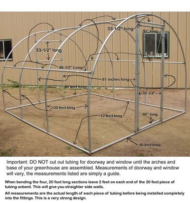 Greenhouse Fitting Kit 10′ X 12′ (3 Purlin) for 1-3/8″ top rail tubing