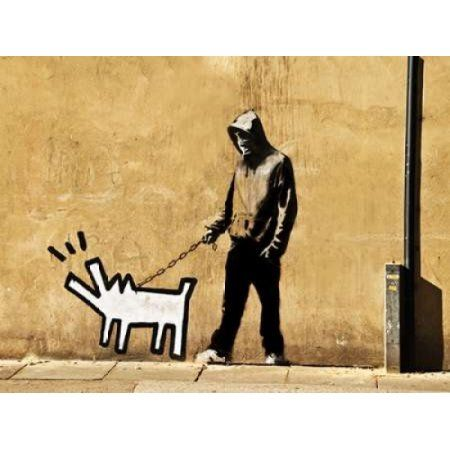 Posterazzi Grange Road Bermondsey London-graffiti attributed to Banksy Canvas Art - Anonymous (22 x 28)