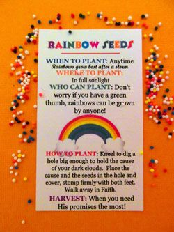 Rainbow Seeds | Your Fourth Day Connection