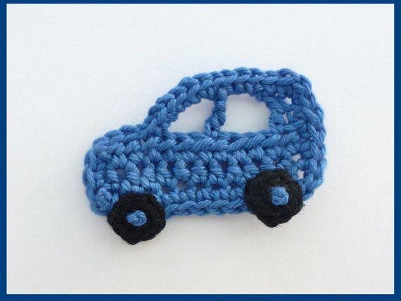Appliques di uncinetto uncinetto automobili automobili 3