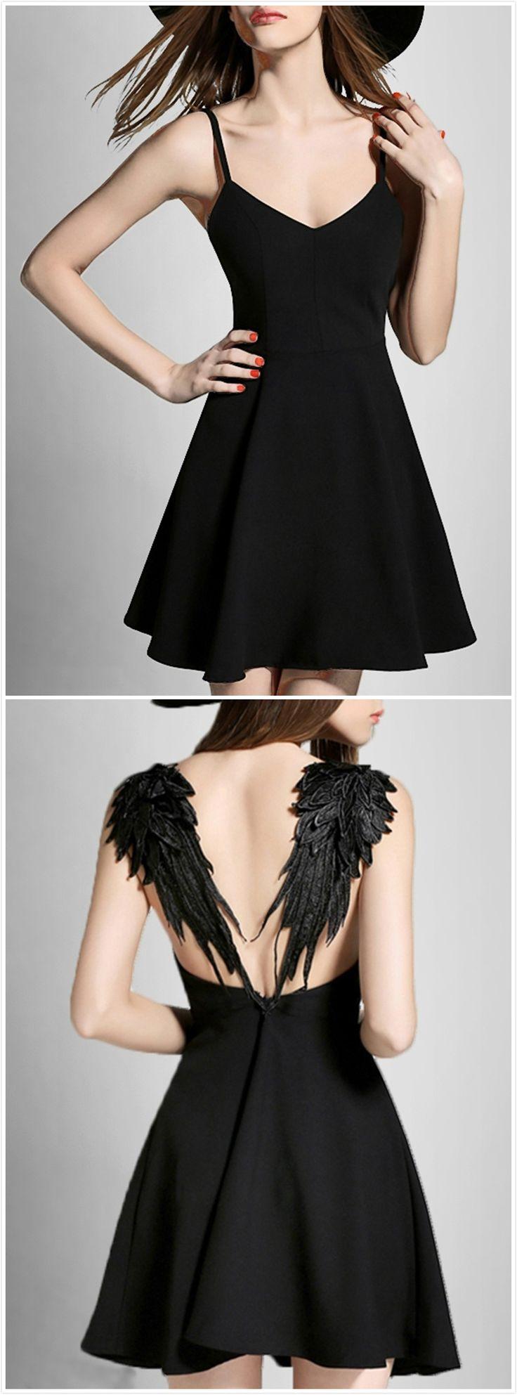 Angle Wings Spaghetti Strap Dress