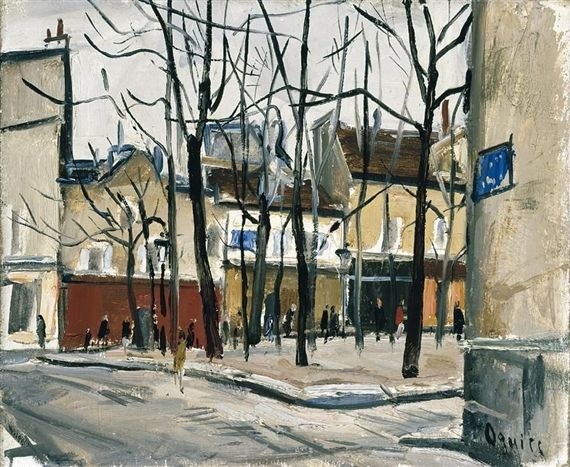 PLACE DU TERTRE by Takanori Oguiss, oil on canvas | MutualArt.com