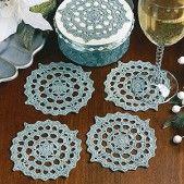 Charming Coaster Set Thread Crochet Pattern ePattern