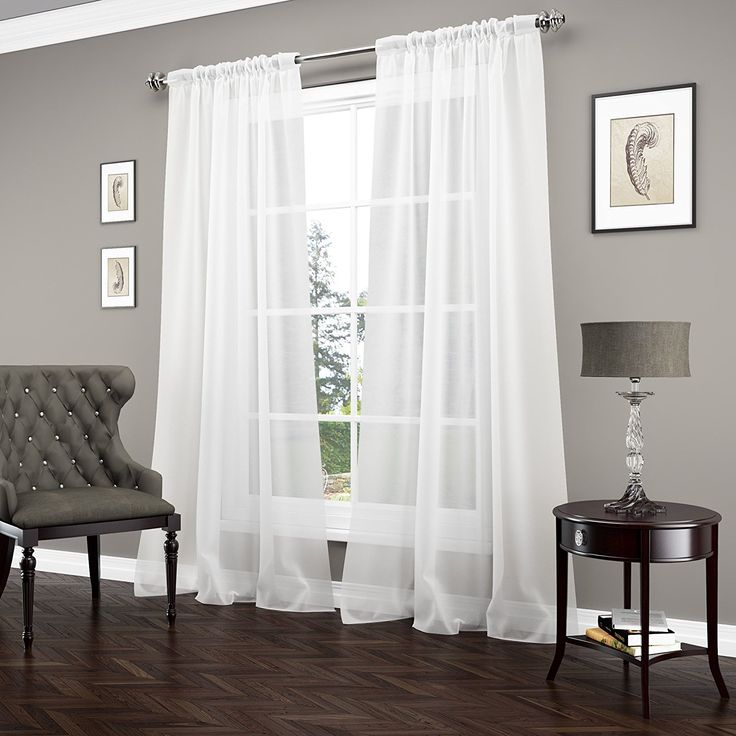 AmazonSmile: Vue Signature 14894052095WHI Carrington 52-Inch by 95-Inch Luxury Single Window Sheer, White: Home & Kitchen