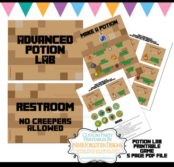 INSTANT DOWNLOAD Potion Brewing Station Printable By