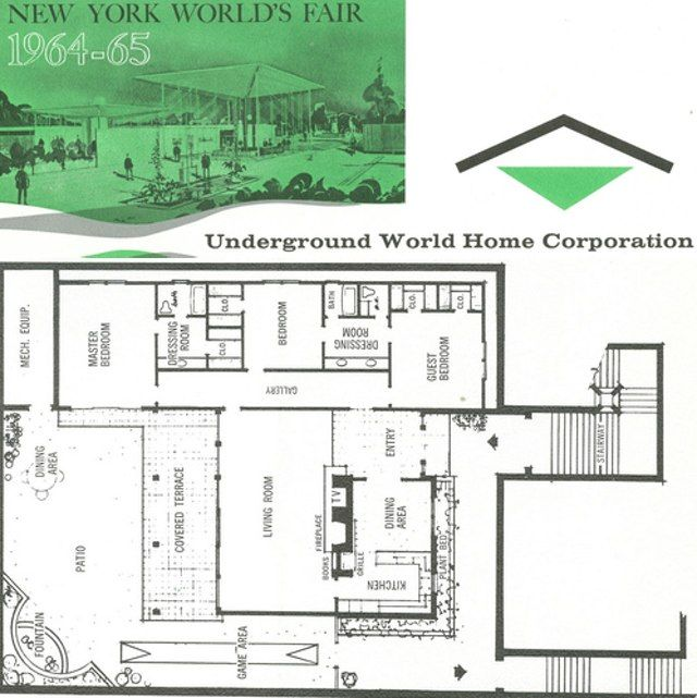 Underground home plans history pinterest for Underground house plans