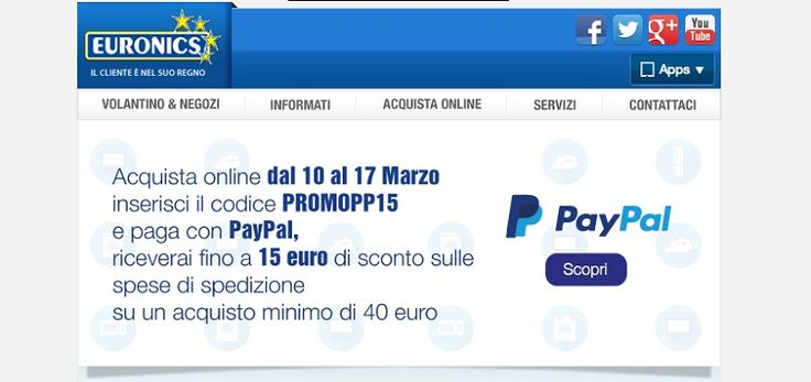 Codice Sconto da Euronics da 15€