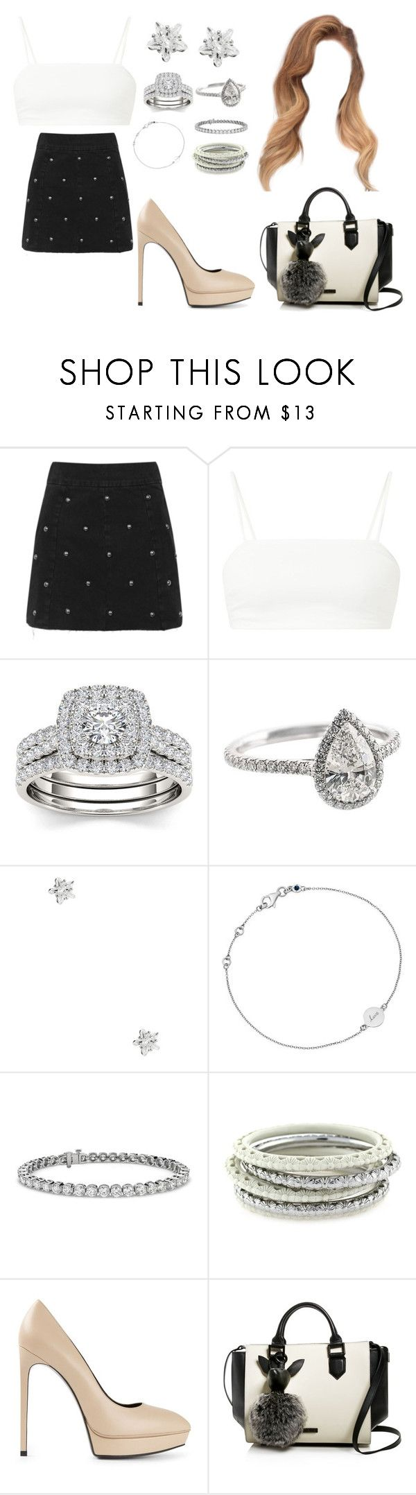 """Feelin' Myself"" by moonlightbabby ❤ liked on Polyvore featuring Topshop, Modern Bride, GUESS, Astley Clarke, Blue Nile, Jessica Simpson, Yves Saint Laurent and Kendall + Kylie"