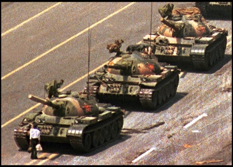 Tienanmen Square. To me, one of the most iconic photographs I've ever seen.