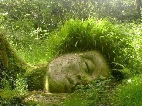 Sleeping Ancient wonderful sculpture, would love to walk up on tis n the woods!