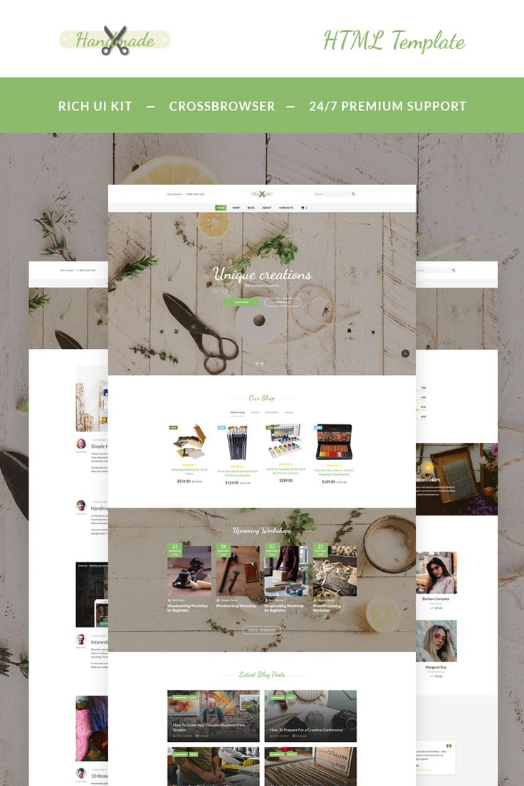 Handmade Art Supplies Website Template 782