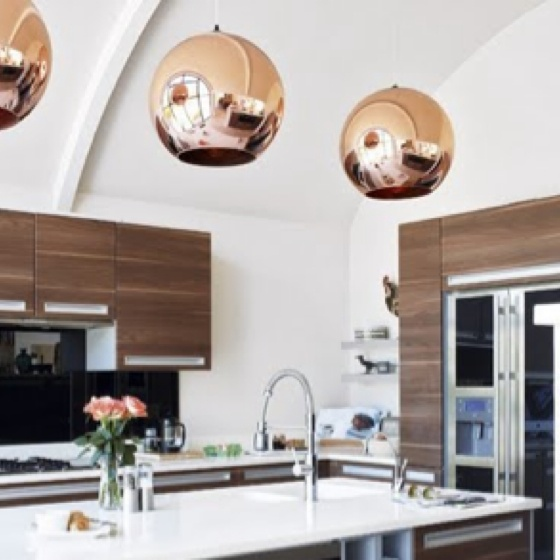 16 Rose Gold And Copper Details For Stylish Interior Decor: Rose Gold Light Fixtures