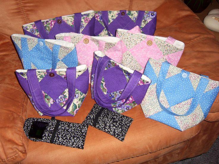 patchwork bags patchworkové taštičky