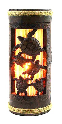 """These Tiki lights makes this lamp one of the best collectible gifts.  -  Measurement: 9"""" H  -  Hand carved  -  UL Listed    Great addition to any tropical decor!"""