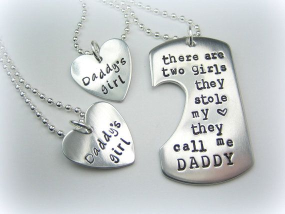 Personalized Handstamped Daddy daughter by StampologieShop on Etsy