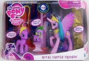 Toys For 4 yr Old Girls: My Little Pony Playset Royal Castle Friends Twilight Sparkle, Spike the Dragon Princess Celestia