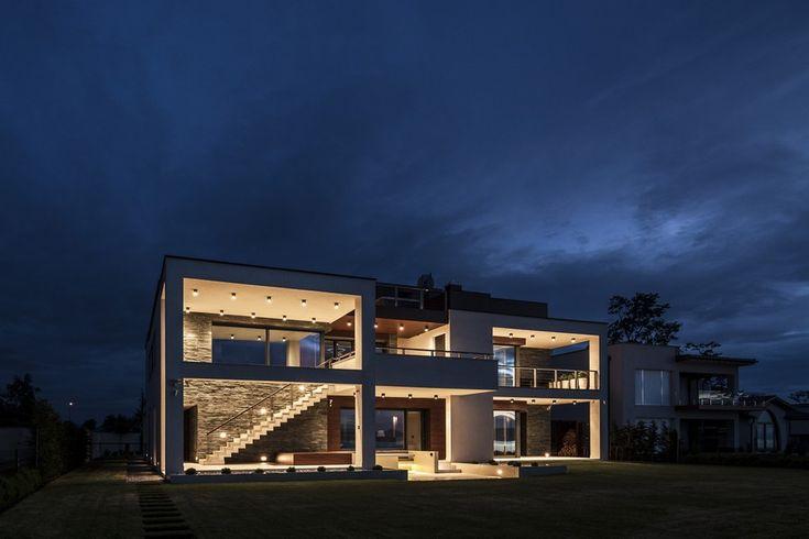 architecture Project Balatonboglár Massive Family Villa on the Southern Shore of Lake Balaton, Hungary