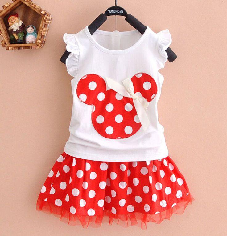 0-4Y Minnie Mouse Del Bambino Capretto Principessa Delle Ragazze Vestiti Del Fumetto Del Partito Del Mini Vestito