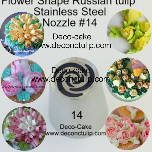 ADC Russian Nozzle *Rose* Deco-cake Tip #14