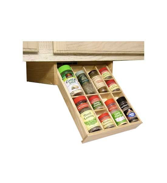 17 best ideas about pull down spice rack on pinterest utensil storage knife storage and - Make cabinet scratch extra storage space ...