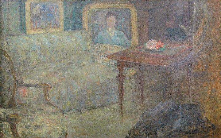 Ola Boznańska: W pracowni, olej, płótno, 68 x 110 cm; 1918