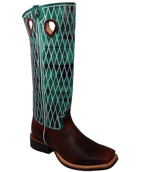 Twisted X Buckaroo Cowboy Boots - Square Toe