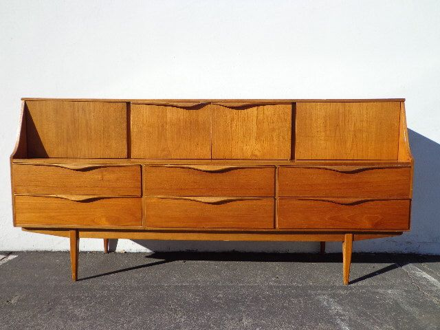 Mid Century Modern Danish TV Media Console Sideboard Furniture Cabinet Buffet Server Sideboard MCM Storage Eames Teak Credenza Bar Cart by DejaVuDecors on Etsy https://www.etsy.com/listing/497530977/mid-century-modern-danish-tv-media