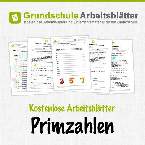 Kostenlose Arbeitsblätter und Unterrichtsmaterial zum Thema Primzahlen im Mathe-Unterricht in der Grundschule.